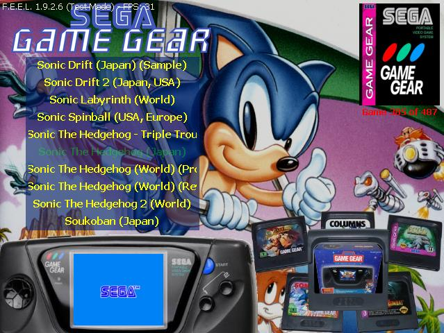 Sega GG layout by Smanettone